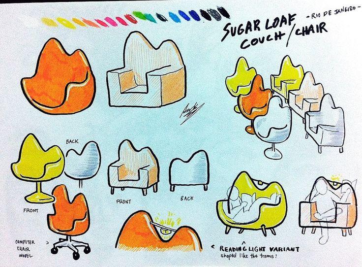 Sugar Loaf Furniture Sketches by ~asakitay on deviantART