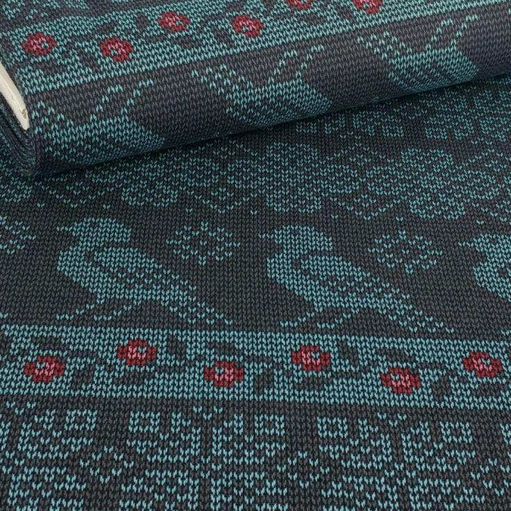 Knitted Bird, Grey: Fantasy Knitwear, Stenzo