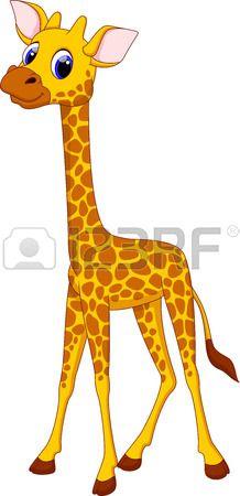 Cute giraffe cartoon Stock Vector