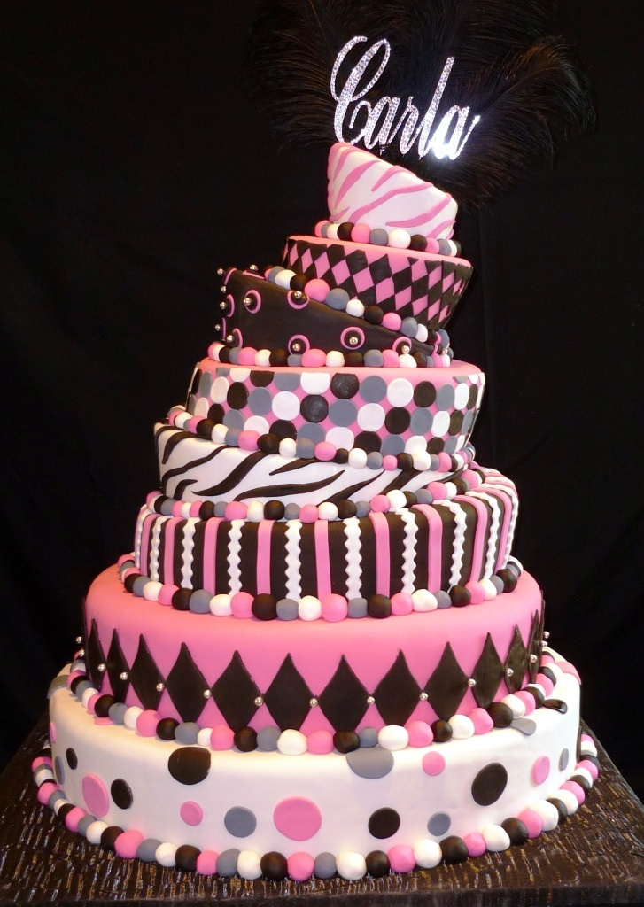 Best 25 Modern Bungalow Exterior Ideas On Pinterest: This Topsy-turvy, Black And Pink Cake Made The Perfect