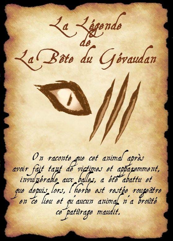 affiche gevaudan