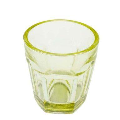 Yellow Glass Tealight Holder - 65mm