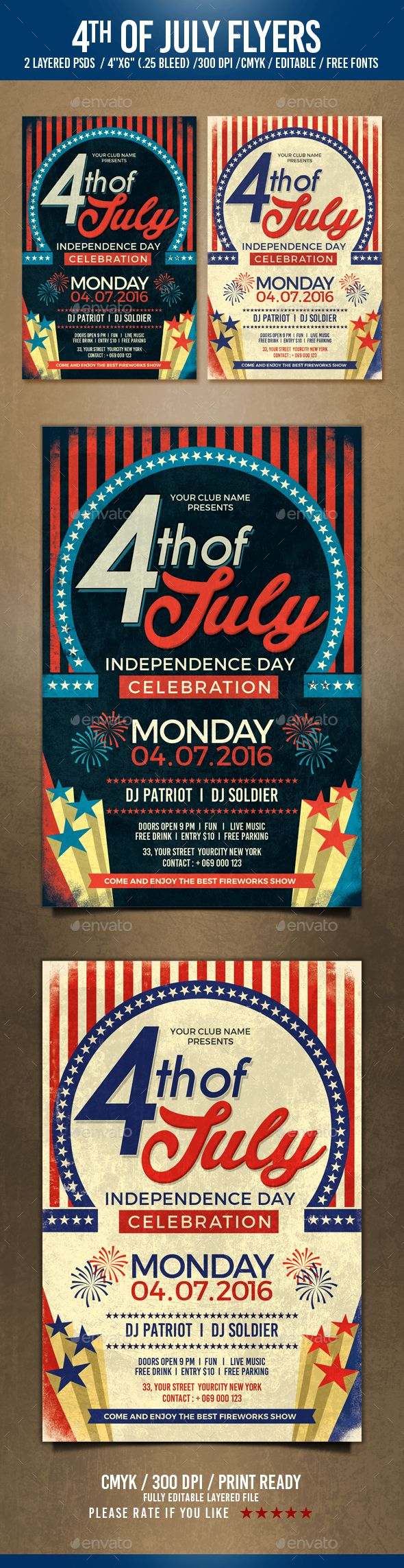 4th of July Flyer Template PSD. Download here: http://graphicriver.net/item/4th-of-july/16499867?ref=ksioks