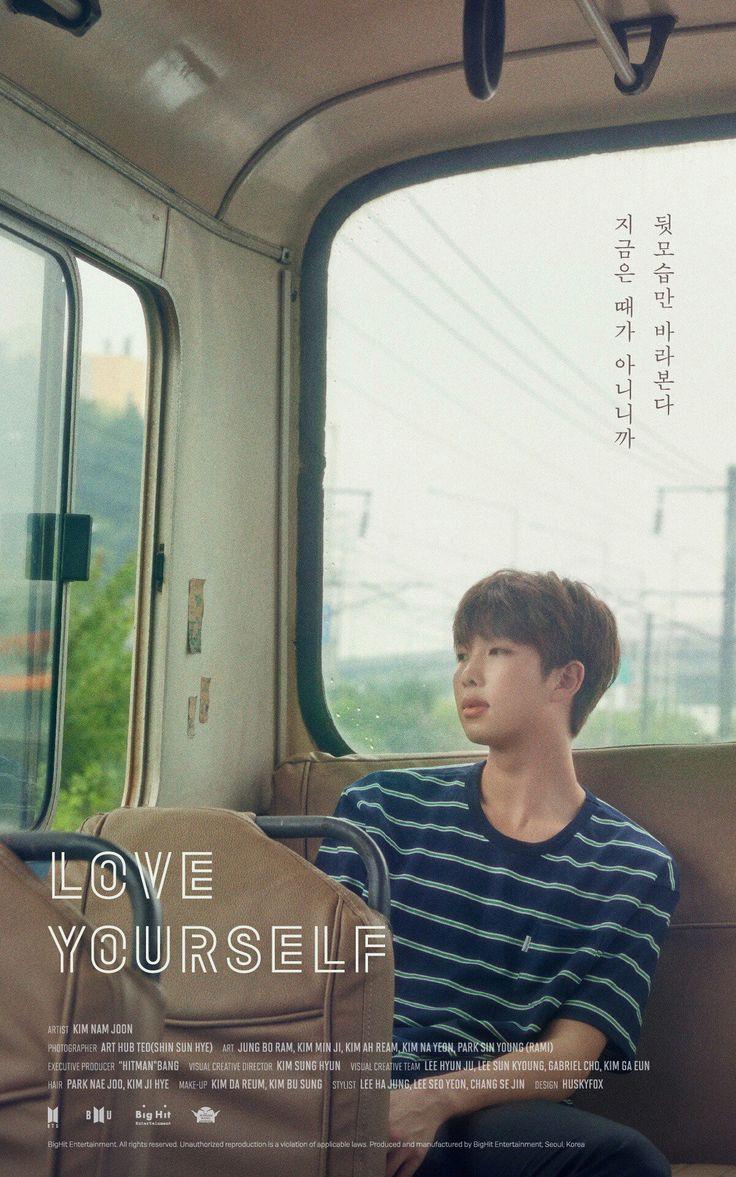 """""""Ya que es mal momento, solo te miraré desde atrás"""" #KimNamJoon #Loveyourself"""
