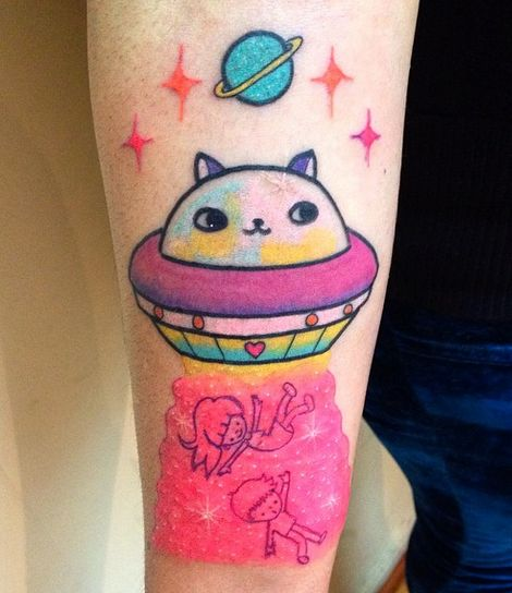 Cute and funny tattoo by Karina Marchant     #ink #tattoo #art