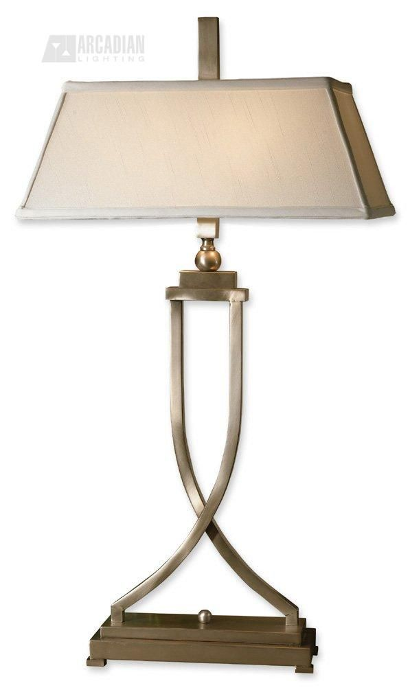 Lamp. Just got these for a client - gorgeous, substantial, quality lighting. Gold transitional buffet table tamp. $182  #lighting #lamps