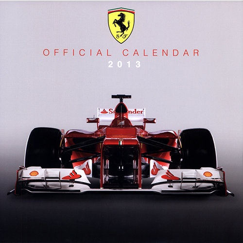 Ferrari F1 Wall Calendar: Speed down the roadway by day dreaming about your own Ferrari F1. Imagine yourself, with the help from the images in this wall calendar, speeding down the roadway in a brand new Ferrari F1. No other image can beat the one this calendar can help paint you.  http://www.calendars.com/Sports-Car/Ferrari-F1-2013-Wall-Calendar/prod201300005181/?categoryId=cat00692=cat00692
