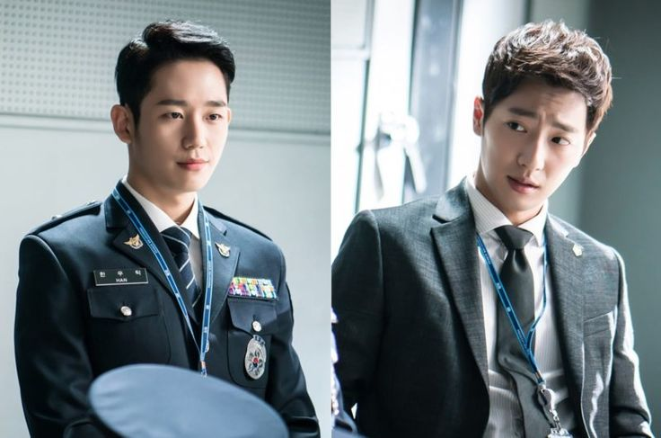 """""""While You Were Sleeping"""" Previews Jung Hae-in And Lee Sang-yeob's First Official Meeting In New Stills"""