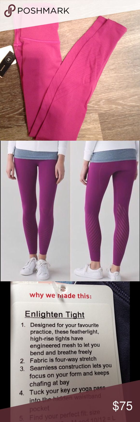 Lululemon Enlighten Tight sz S (2/4) ➡️ New with Tags color is regal plum  ➡️ Price is Firm ➡️ No Trades  ➡️ No rude comments ➡️ Please check out my other listings to bundle  ❤️ Thank you and happy shopping! lululemon athletica Pants Leggings