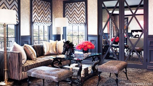 The reality TV star and mother of two puts her Calabasas home on the market and shares her vision for her wild interiors.