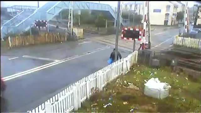 Unbelievable CCTV footage of Network Rail level crossings
