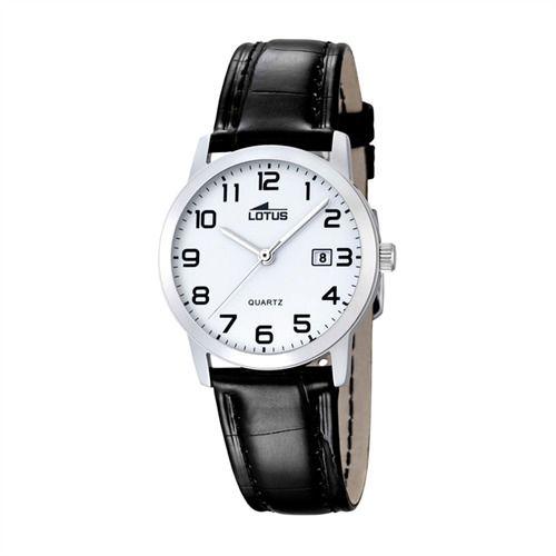 Damenuhr Lotus Armbanduhr Leder schwarz L18240/1 http://www.thejewellershop.com/ #lotus #classic #leder #black #white #armbanduhr #watch #uhr #damen #schmuck #uhren