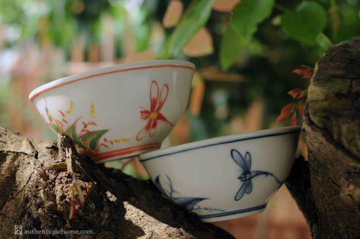 #BatTrang #Ceramics #Tricolor #bowls #blue #Authentique #Home