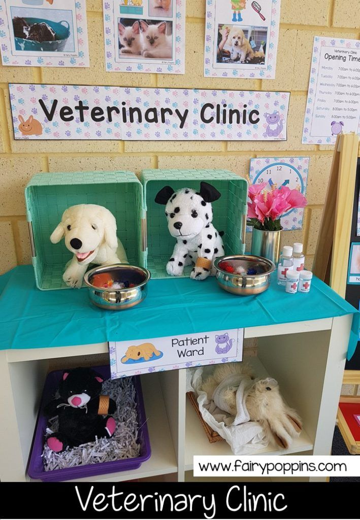 Veterinary Clinic dramatic play center and printables ~ Fairy Poppins