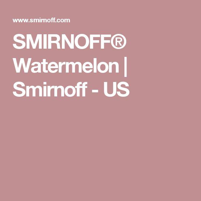 SMIRNOFF® Watermelon   Smirnoff - US