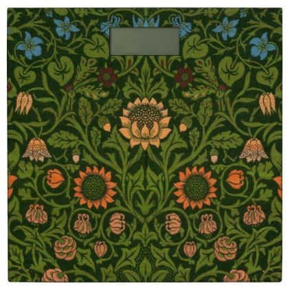#William Morris Tapestry Rug Red Green Carpet Asian Bathroom Scale - #Bathroom #Accessories #home #living