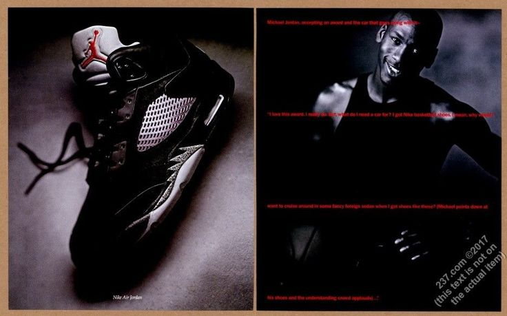 1990 Nike Air Jordan basketball shoes MJ photo vintage print ad