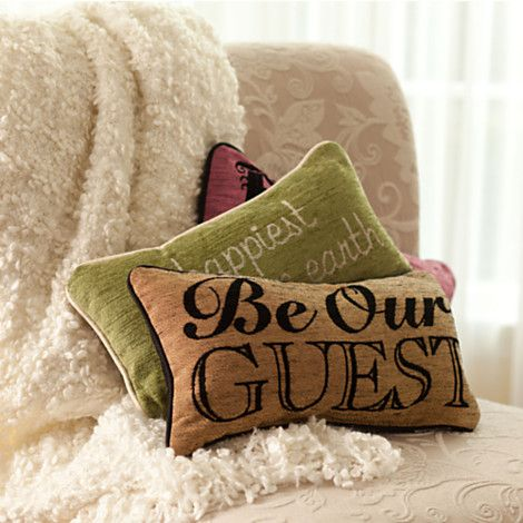 Beauty And The Beast Pillow Be Our Guest Home