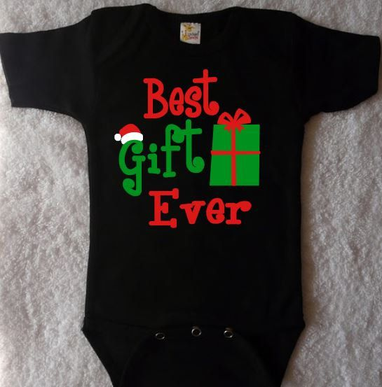 Best Gift Ever, Baby Christmas Outfit, Baby's 1st Christmas Shirt, Kids Christmas Shirts, Baby Boy Christmas, Baby Boy Bodysuit, Christmas