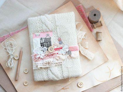 """Блокноты ручной работы. Ярмарка Мастеров - ручная работа. Купить Блокнот """"Пухляш"""". Handmade. Белый, блокнот в мягкой обложке, нитки"""