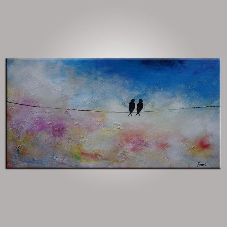 Abstract Art, Contemporary Wall Art, Modern Art, Love Birds Painting, Art  For Part 71