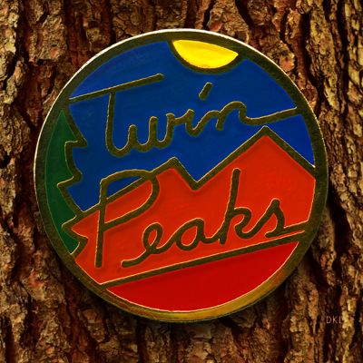 Twin Peaks 20th anniversary pin by David Lynch(!)