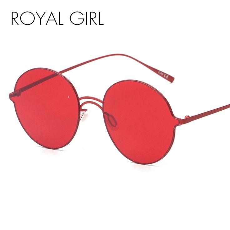 Royal girl mulheres rodada óculos de sol sem aro moda vintage retro espelho óculos de marca dupla lente oculos gafas de ss945 nariz vermelho em Óculos de sol de Das mulheres Roupas & Acessórios no AliExpress.com | Alibaba Group