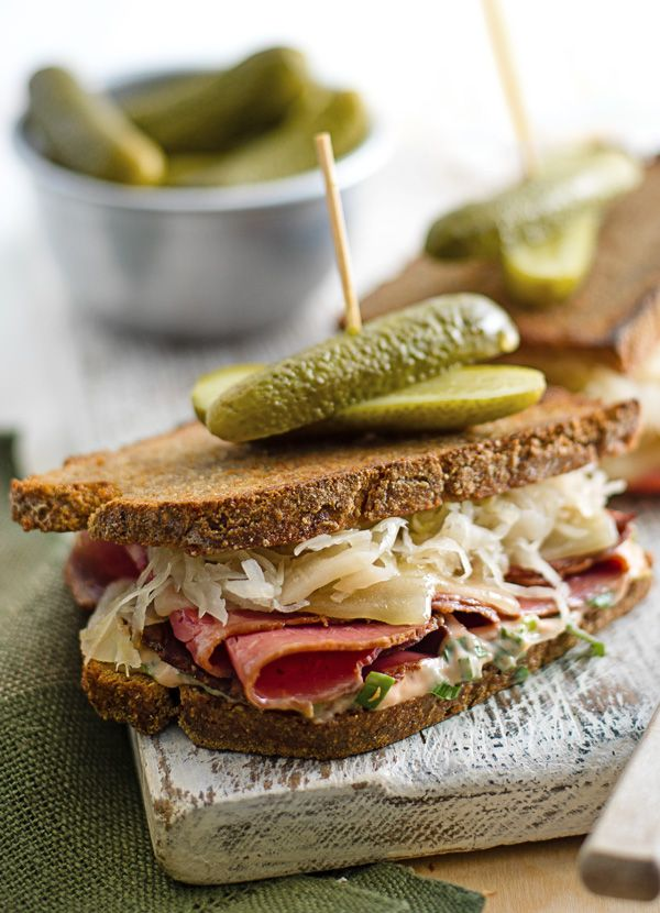 Ultimate grilled reuben sandwich: This our ultimate version of a New York favourite. In just 10 minutes you can be enjoying that salty beef, tangy sauerkraut and melting cheese - perfect for an indulgent supper for one.
