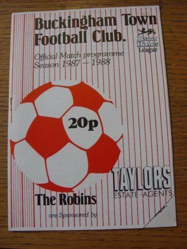 29/08/1987 Buckingham Town v Kings Lynn FC