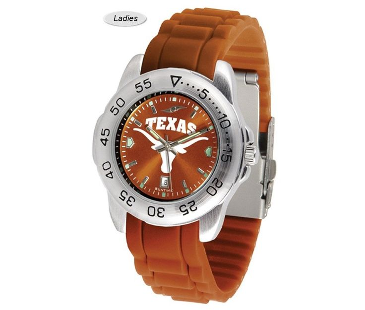 The Sport AnoChrome Texas Longhorns Watch is available in a Mens style. Showcases the Longhorns logo. Color-coordinated silicone band. Free Shipping. Visit SportsFansPlus.com for Details.