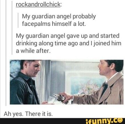 And my guardian angel is in a blue box with two brothers, another angel, and is currently picking up Johnlock.