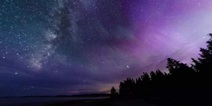 Aurora to Milky Way, Seawall in Southwest Harbor, ME  --- on Round.me