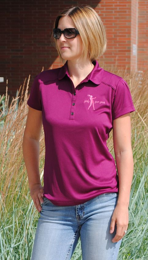 This ultra-feminine, stay-cool wicking golf shirt is appropriate for anywhere from the range to casual Fridays at the office.  Beautiful pintuck detailing highlights the top of the cap sleeves and back yoke seam.     8.5-oz 100% poly interlock jersey knit. Concave metal buttons.