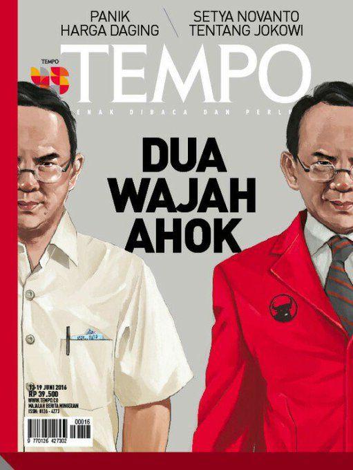 Cover Sangar Majalah Tempo: Dalam Waktu 6 Bulan Ahok Sudah 5 Kali Dijadikan…