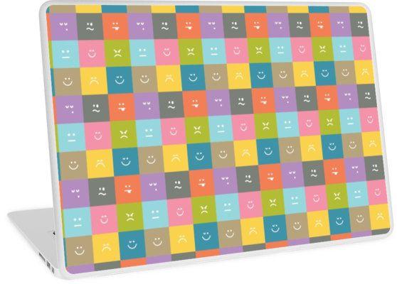 "Emoji Emoticon Pattern Illustration by Gordon White   Emoji Macbook Air 13"" Laptop Skin Available @redbubble --------------------------- #redbubble #emoji #emoticon #smiley #faces #cute #addorable #pattern #laptop #skin #laptopskin #macbook"