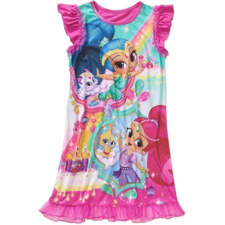 Nickelodeon Girls' Ruffle Sleeve Sleep Gown, Size: 4/5, Pink