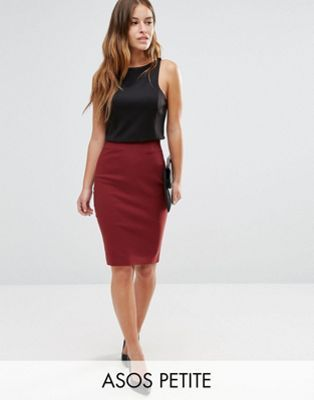 ASOS PETITE High Waisted Pencil Skirt