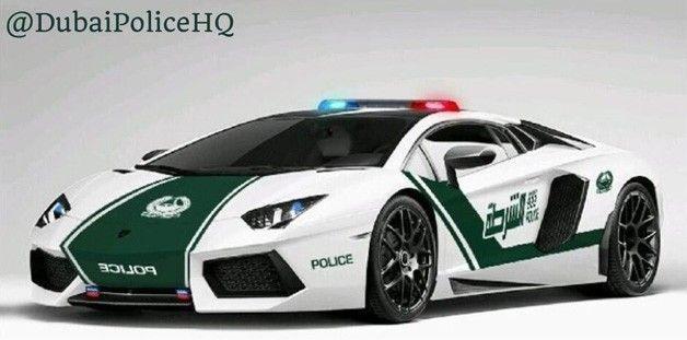 Dubai police welcome Lamborghini Aventador ($450,000) cop car. No-one gets away... hightech, cutting edge and Top Speed!