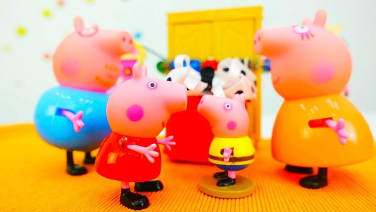 Свинка Пеппа и Джордж: подарок на ДЕНЬ РОЖДЕНИЯ своими руками. СЮРПРИЗ, ...