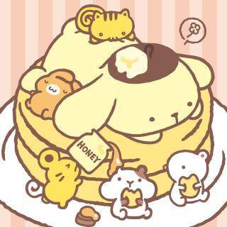 #PomPomPurin pancakes (^ω^)