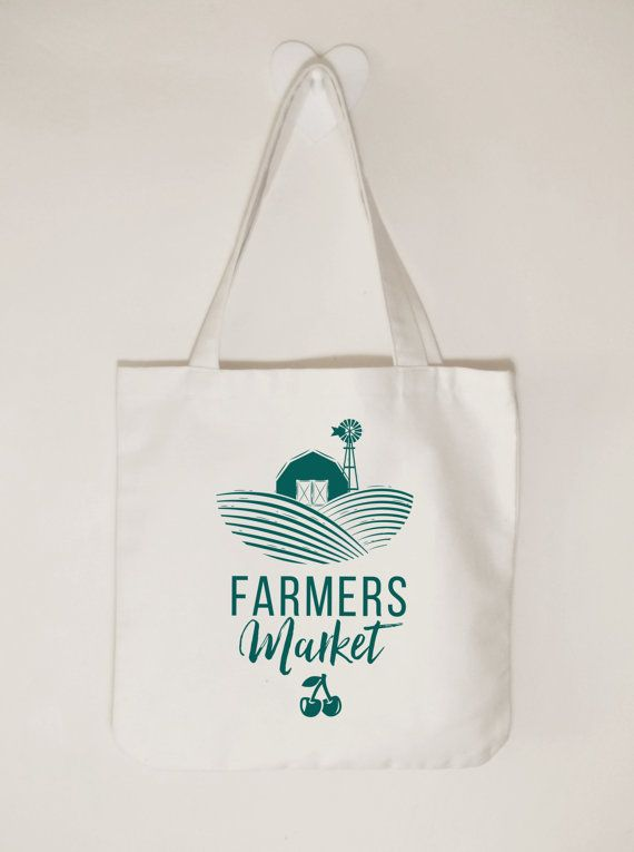Farmers Market Tote bag Market day tote Farm by ToastStationery