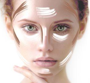 Contouring herzförmiges Gesicht