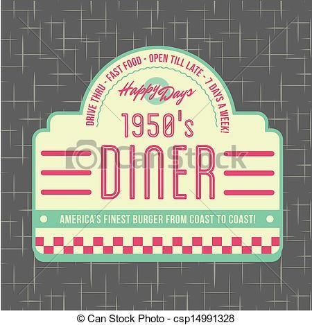 1950s Diner Style Logo Design - csp14991328