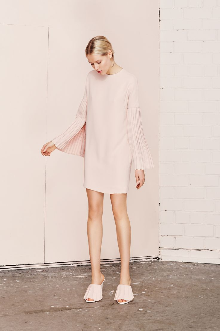 MERAKI pleated sleeve mini dress  UNDRESS SS17 collection  www.iwearundress.com