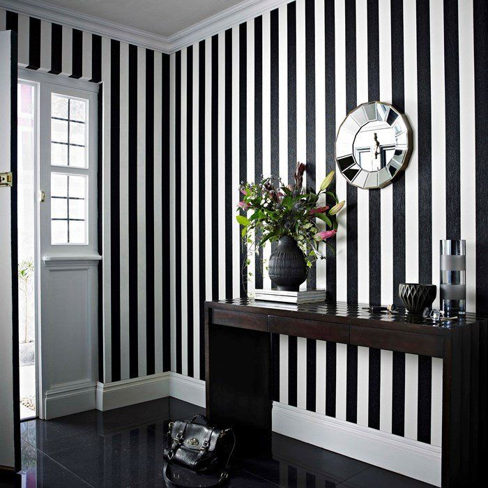 Glitterati Wallpaper in Black and White by Julien MacDonald for Graham & Brown