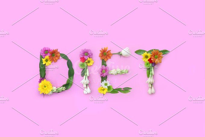 Diet. FLowers composition by Trefilova Anna on @creativemarket