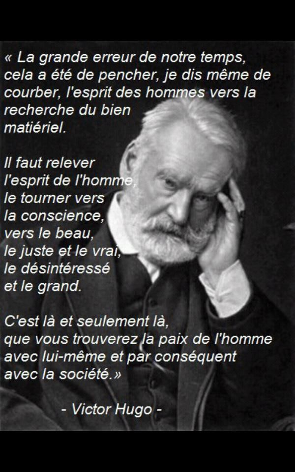 Victor Hugo  ~ citation français ~