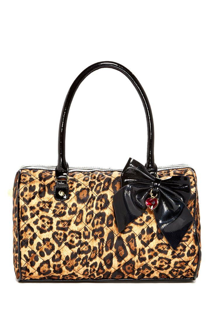 Betsey Johnson Betsey <3's Leopard Satchel