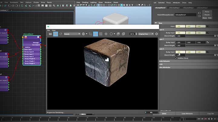 Hot to combine multiple normal maps with Redshift using