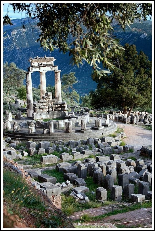 This is my Greece | Located about a mile east of the famous Sanctuary of Apollo, the Sanctuary of Athena contains the mysterious Tholos, a 4th-century-BC rotunda at Delphi.